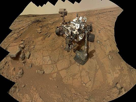 """Кюриосити"" си направи селфи. Снимка: NASA, AP"