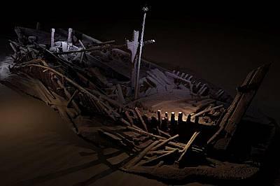 Този потънал кораб от Османския период е бил намерен на 300 метра под повърхността на Черно море.