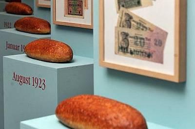 Експонат в музея на хляба от инфлацията през 1920-те.