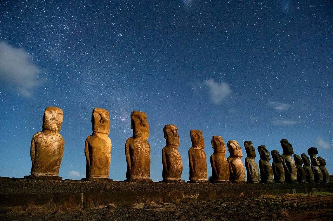 Проучване оборва теорията, че на Рапа Нуи (Великденския остров) е имало гражданска война.  Снимка: Джим Ричардсън, National Geographic Creative