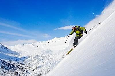 Хели-ски на полуостров Камчатка, Сибир.
