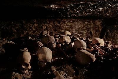 В гробницата били намерени и тези черепи.Специалистите смятат, че находките може да помогнат за намирането и на други гробници.