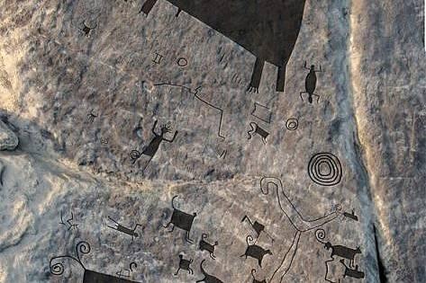 Най-големите скални рисунки сканирани за първи път