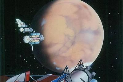 """В романа """"Проектът Марс"""" астронавти защитават планетата ни от марсианциВ романа """"Проектът Марс"""" 400-тонови кораби и екипаж от 70 ч..."""