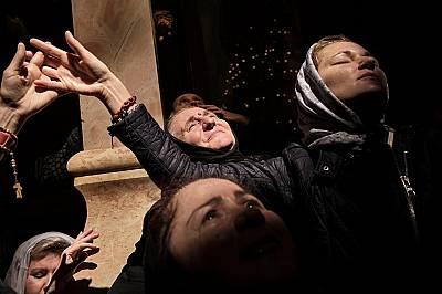Християните празнуват Възкресение - галерия от Йерусалим