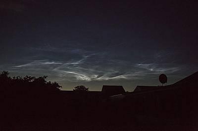 Нощни облаци над ДанияНощни облаци в небето над Дюрсланд, Дания, 13 юни