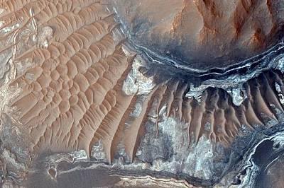 Пясъчни дюни на дъното на кратера Арам Кейъс