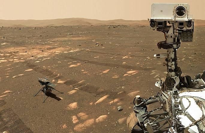 Perseverance оставя хеликоптера Ingenuity на марсианската повърхност.
