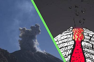 Вулкан изригва на всеки час в продължение на 94 години
