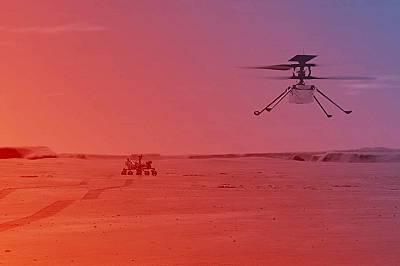 За първи път: мини хеликоптер може да лети над Марс през април