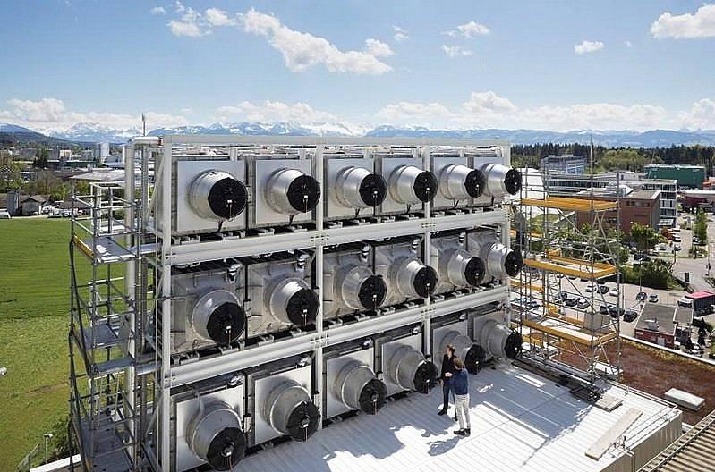 Заводът на Climeworks в Хинвил, Швейцария Снимка: GAETAN BALLY, Keystone/Redux