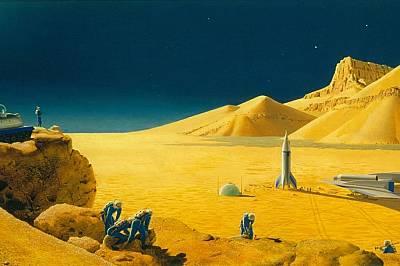 Немският учен Вернер фон Браун разпалил обществения интерес към МарсПрез 40-те и 50-те години на миналия век немският ракетен учен Вернер фон Браун ра...