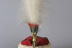 """Парадният калпак на княз БатенбергПараден калпак със """"султан"""" от пера на екзотични птици на българския княз Александър I Батенберг, съх..."""