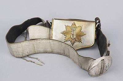 Лядунка с колан и вензел на княз БатенбергЛядунка с колан и вензел на княз Александър I, съхранявани в НВИМ - София.