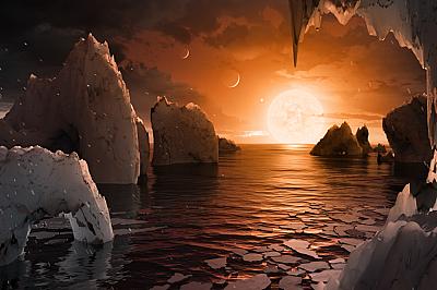Eкзопланетата TRAPPIST-1fВероятно така изглежда екзопланетата TRAPPIST-1f