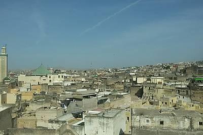Изглед от покрив в Медината