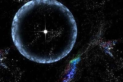 Звезда, разположена на 50 000 светлинни години от Земята.