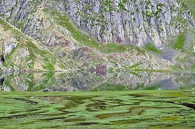 """Езерото Кришансар, Кашмир""""Ако всички усилия се възнаграждаваха с подобни пейзажи, щеше да бъде чудесно"""", &amp..."""