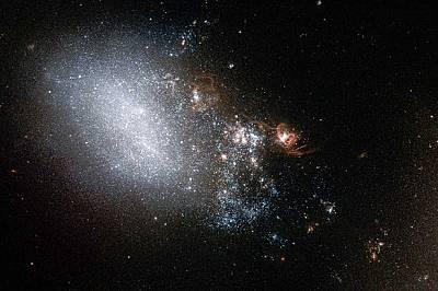 Учени откриха огромна галактика, гравитираща около Млечния път