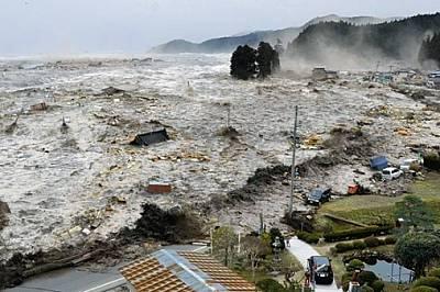 """Япония Миналия март над 1500 души загинаха в Рикузентаката - един от заличените от вълната цунами градове. """"С рухването на сградит..."""