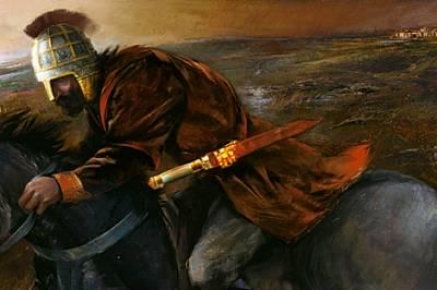 Бляскавите накити в съкровището били символ на общественото положение на мъже като този благородник, тръгнал на война. Вероятно на бойното...