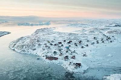 Исорток, ГренландияСупермаркет в центъра на гренлнадското село Исорток.