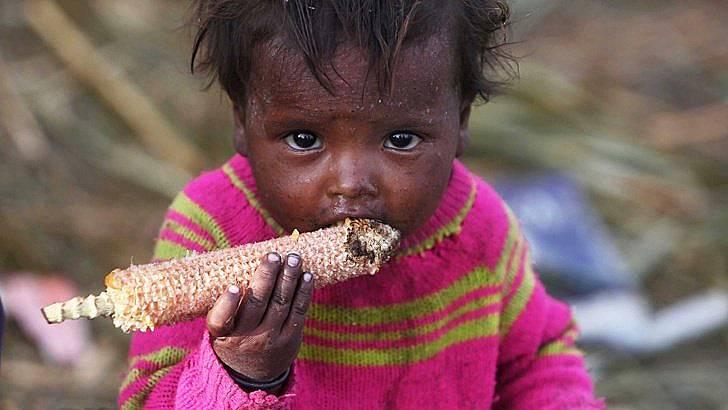 Почти 151 милиона деца на възраст под пет години - 22% от общия брой - имат неадекватен растеж поради недохранване. Снимка: БГНЕС