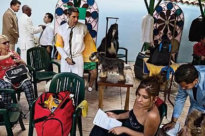 """Стопани на кучета се готвят за шоуто """"Шампион на шампионите"""" в Хавана. Подобни прояви на дискретно харчене на пари &amp..."""