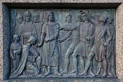Избирането и коронясването на Балдуин за латински император (вдясно)