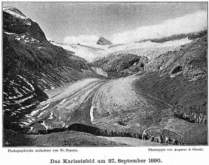 Ледникът Карл-Айсфелд на 27 септември 1890 г.