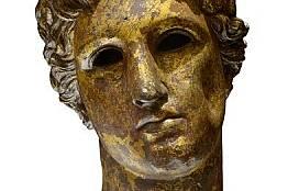 Бронзова глава на Аполон от Сердика, II-III в. - сега в Националния археологически музей.