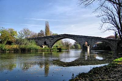 Кадин мост и река Струма