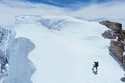 Вторият български алпинист, участвал в изкачването на Броуд пик заедно с Боян Петров през 2014 г. - Иван Томов, - малко преди да достигне главния връх...