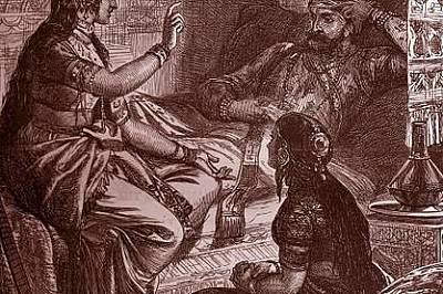 Шехеразада омайва съпруга си с прикзаки