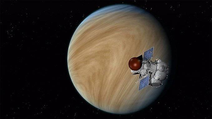Апарат на Руската академия на науките в орбита около Венера Снимка: NASA/JPL-Caltech