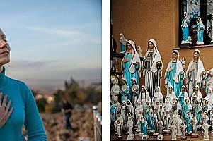 Украинката Анна Пидлисна, на 32 години, казва, че е дошла в Меджугорие – където гипсовите статуетки се продават по 30 евро, – след...