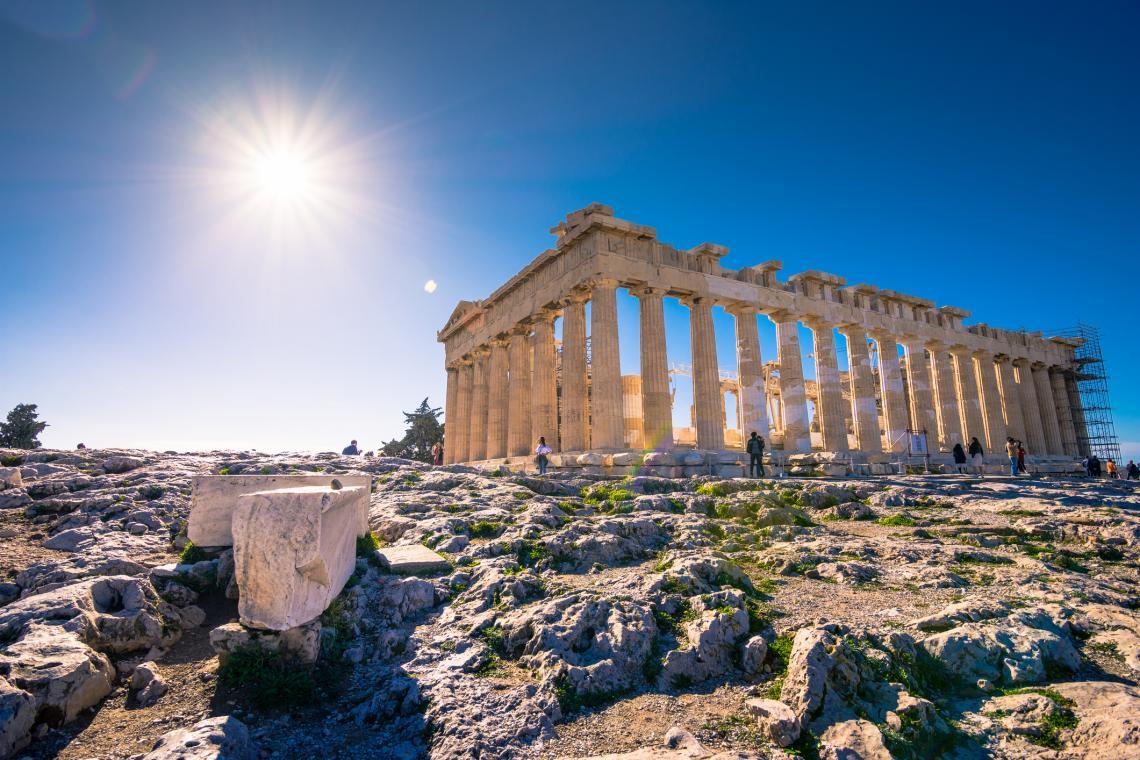 Партенонът в Атина, Гърция.