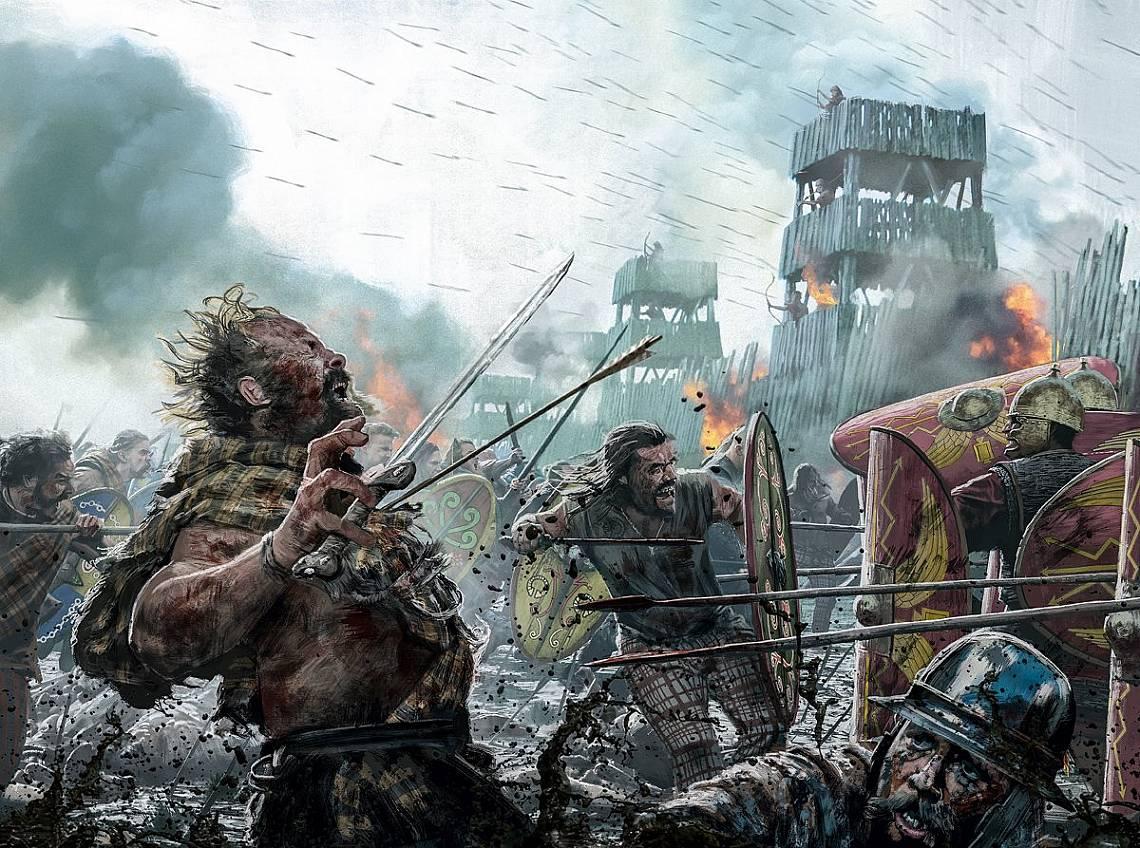 Келтите се укрепили, римляните създали обсаден пръстен и накрая се сражавали в ръкопашен бой. Келтите претърпели поражение в последната си голяма битк...