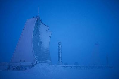 Широкообхватно радарно съоръжение в Нунавут, Канада.