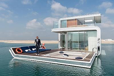 Прототип на луксозен подводен апартамент близо до The World, изкуствен архипелаг в Персийския залив.