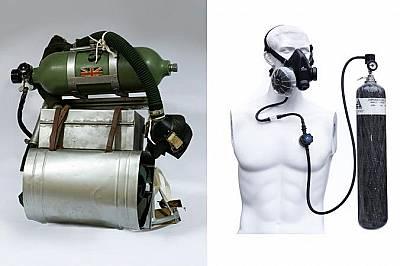"""КислородПреди: През 1953 г. е имало два вида кислородни апарати. Повечето от тях са използвали """"отворени системи"""", като един цилин..."""