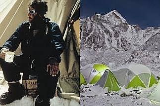 ПалаткиПреди: Палатките през 1953 г. били правени от плътен брезент в различни размери. Големите палатки се използвали в лагерите на по-малка надморск...