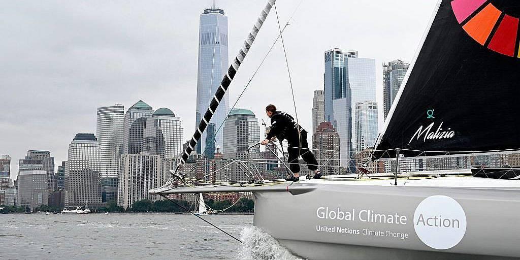 Яхтата Malizia може да прекоси Атлантика без да отделя вредни емисии. Снимка: Getty Images
