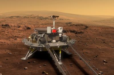 Китайски марсоход кацна на Червената планета