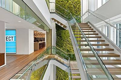 Правна кантора във Вашингтон, окръг Колумбия, илюстрира множеството страни на нова тенденция в дизайна.