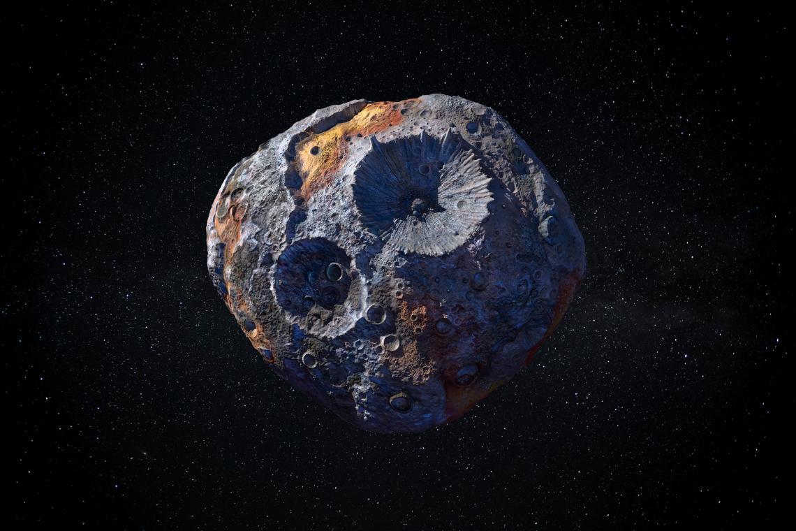 16 Психея - големият метален астероид, който хипнотизира любителите на космонавтиката.