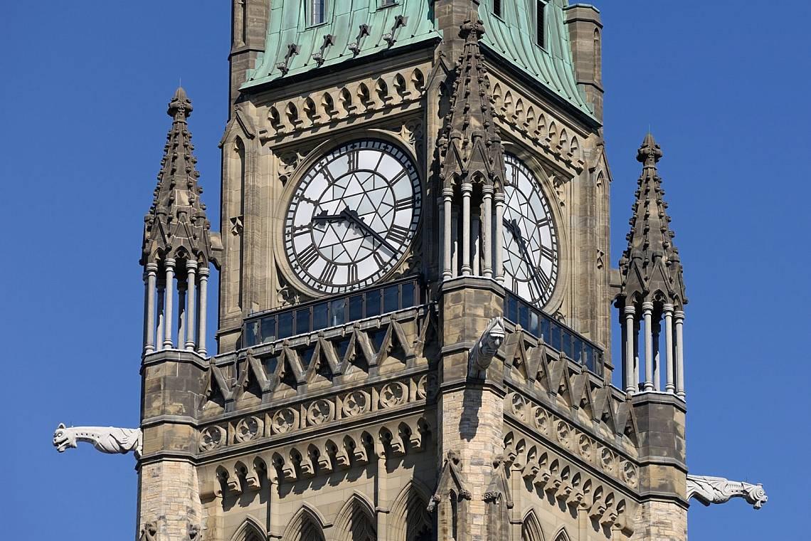 Часовникът на кулата Peace Tower в Отава, Канада Снимка: iStock