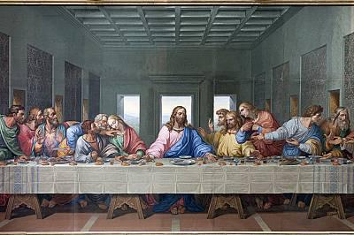 """Мозайка на """"Тайната вечеря"""", направена от Джакомо Рафаели във Виена"""
