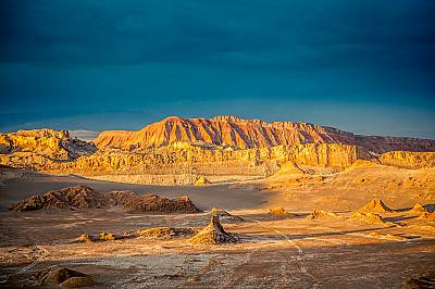 Долината на Луната (Valle de la Luna)Долината на Луната се намира на 13 километра западно от град Сан Педро де Атакама в северната част на Чили.