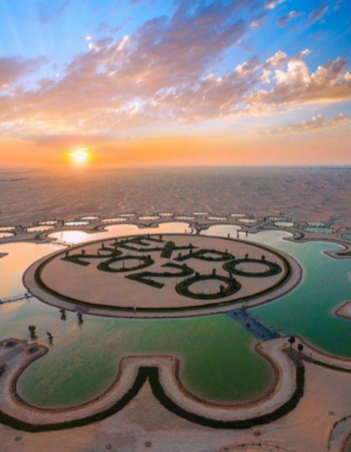 """Езерото """"Експо 2020"""" в Дубай."""